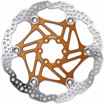 Hope 180mm Floating 6-Bolt Disc Rotor Orange