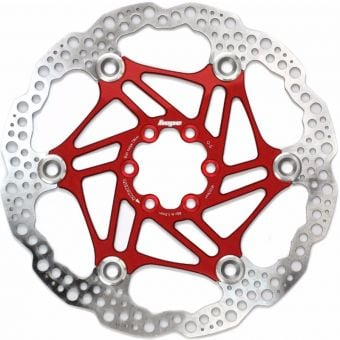Hope 180mm Floating 6-Bolt Disc Rotor Red