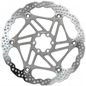 Hope 203mm Floating 6-Bolt Disc Rotor Silver