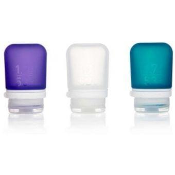 HUMANGEAR GoToob+ 3 Pack Small Clear/Purple/Teal