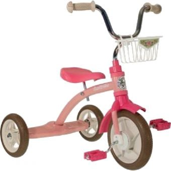 "Italtrike 10"" Super Lucy Tricycle Rose Garden Pink"