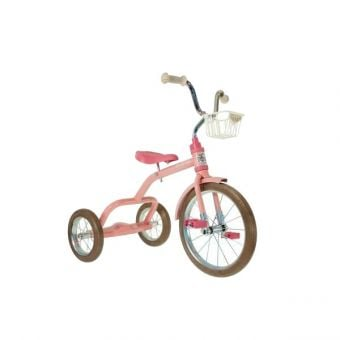 "Italtrike 16"" Spokes Tricycle Rose Garden Pink"