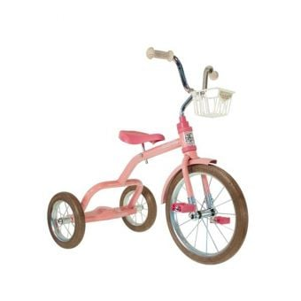 "Italtrike Classic 16"" Spokes Tricycle Rose Garden Pink"