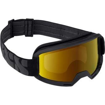 iXS Hack MTB Goggles Black with Mirror Gold Lens
