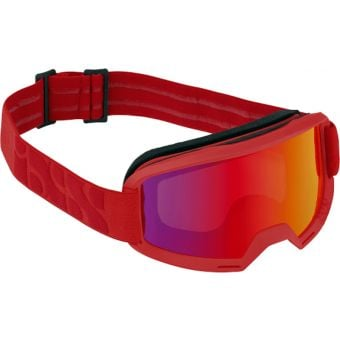 iXS Hack MTB Goggles Racing Red with Mirror Crimson Lens