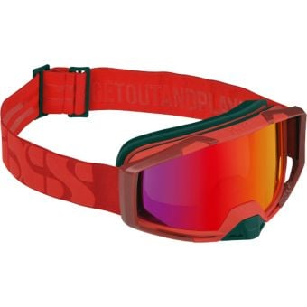 iXS Trigger MTB Goggles Racing Red with Mirror Crimson Lens