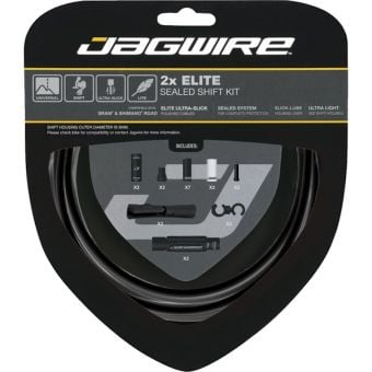 Jagwire Elite 2x SRAM/Shimano Sealed Shift Kit Black