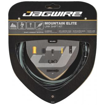 Jagwire Mountain Elite Link Shift Cable Kit Black for SRAM + Shimano MTB