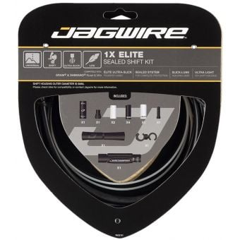 Jagwire MTB/Road Elite Sealed Shift Cable Kit Black for SRAM + Shimano