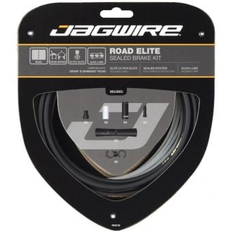 Jagwire Road Elite Sealed Brake Cable Kit Black for SRAM + Shimano