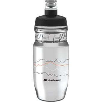 JetBlack 600ml Icon Water Bottle Clear/Black