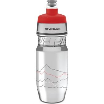 JetBlack 710ml Icon Water Bottle Clear/Red
