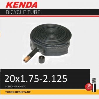 "Kenda 20x1.75/2.125"" 35mm Thorn Resistant Schrader Valve Tube"