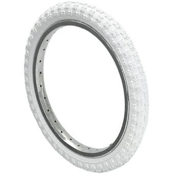 """Kenda K50 16x1.75"""" Knobby Tread Tyre White"""