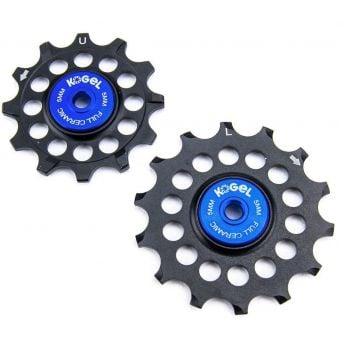 Kogel 12/14NW Narrow/Wide Full Ceramic Oversize Road Pulley Set (Shimano) Black