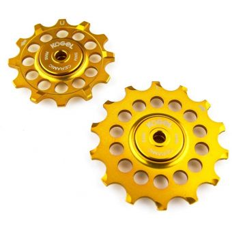 Kogel 12TNW 12-Tooth Narrow/Wide Ceramic MTB Pulley Set (Shimano) Gold