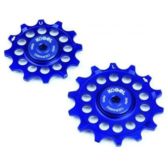 Kogel 12TNW 12-Tooth Narrow/Wide Ceramic Road Pulley Set (Shimano) Blue