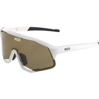 KOO Demos Sunglasses White (Light Brown Lens)