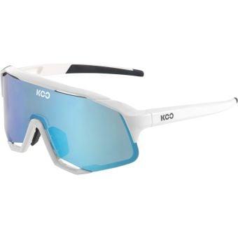 KOO Demos Sunglasses White (Turquoise Lens)