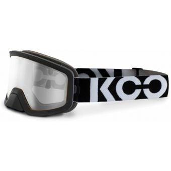 KOO Edge MTB Goggles Black/White with Clear Lens