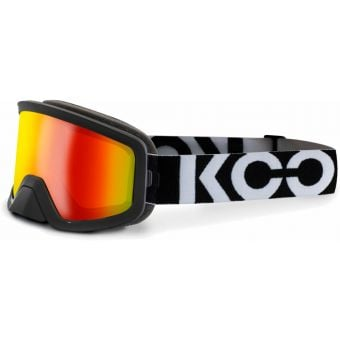 KOO Edge MTB Goggles Black/White with Red Mirror Lens