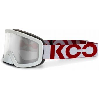 KOO Edge MTB Goggles White/Red with Clear Lens