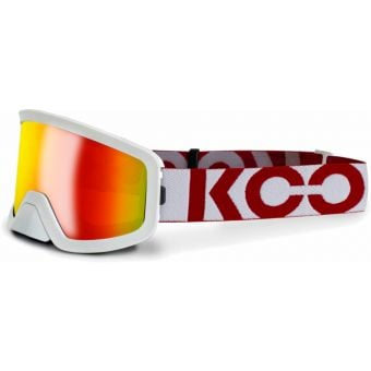 KOO Edge MTB Goggles White/Red with Red Mirror Lens