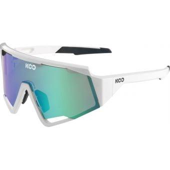 KOO Spectro Sunglasses White (Green Mirror Lens)