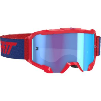 Leatt Velocity 4.5 Goggles Red With Blue Lens