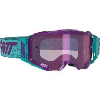 Leatt Velocity 5.5 Goggles Iriz Aqua With Purple Lens