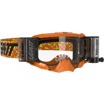 Leatt Velocity 5.5 Goggles Roll-Off Neon Orange With Clear Lens
