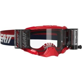 Leatt Velocity 5.5 Goggles Roll-Off Red With Clear Lens