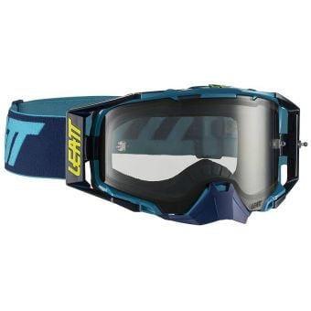 Leatt Velocity 6.5 Goggles Ink/Blue Light With Grey Lens
