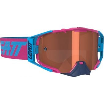 Leatt Velocity 6.5 Goggles Pink/Cyan With Rose Lens