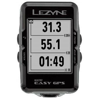 Lezyne Macro Easy GPS Bicycle Computer Black