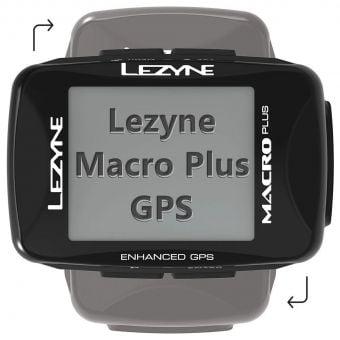 Lezyne Macro Plus GPS Bicycle Computer Black