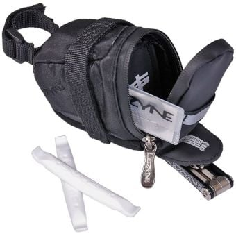 Lezyne S-Caddy Loaded 500ml Saddle Bag with Tools Black
