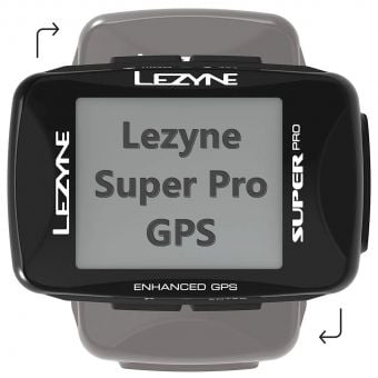 Lezyne Super Pro GPS Bicycle Computer Black