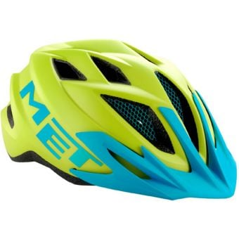 MET Crackerjack Youth Helmet Unisize Green/Cyan