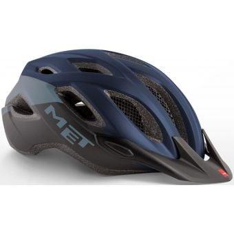 MET Crossover Active Helmet Blue/Black/Matt