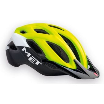MET Crossover Active Helmet Safety Yellow/White/Black