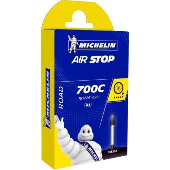 Michelin Airstop 700x35/45c Wide 40mm Presta Valve Road Tube