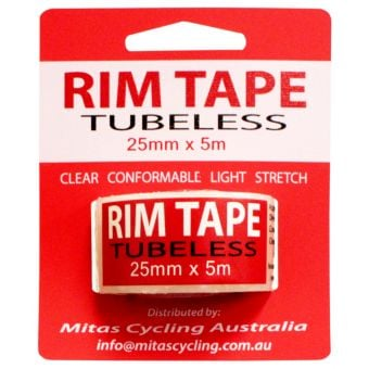 Mitas Clear Ding Tape Tubeless Rim Tape 25mm x 5m