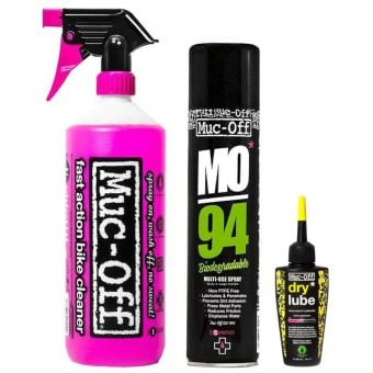 Muc-Off Wash/Protect/Dry Lube Bike Maintenance Kit