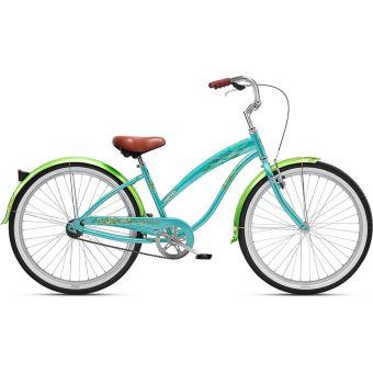 Nirve Wispy Single Speed Ladies Steel Cruiser Bike Coral Teal