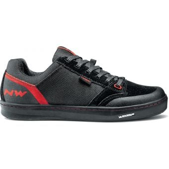 Northwave Tribe Flat Pedal Shoes Black/Red