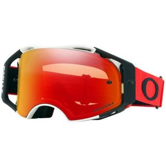 OAKLEY Airbrake MX Goggles Red/White /Prizm Mx Torch Lens