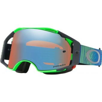 OAKLEY Airbrake MX Goggles Shockwave Blue Green/Prizm MX Sapphire Lens