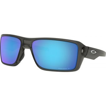 OAKLEY Double Edge Sunglasses Grey Smoke/Prizm Sapphire Lens