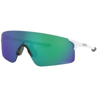 OAKLEY EVZero Blades Sunglasses Matte White Frame Prizm Jade Lens